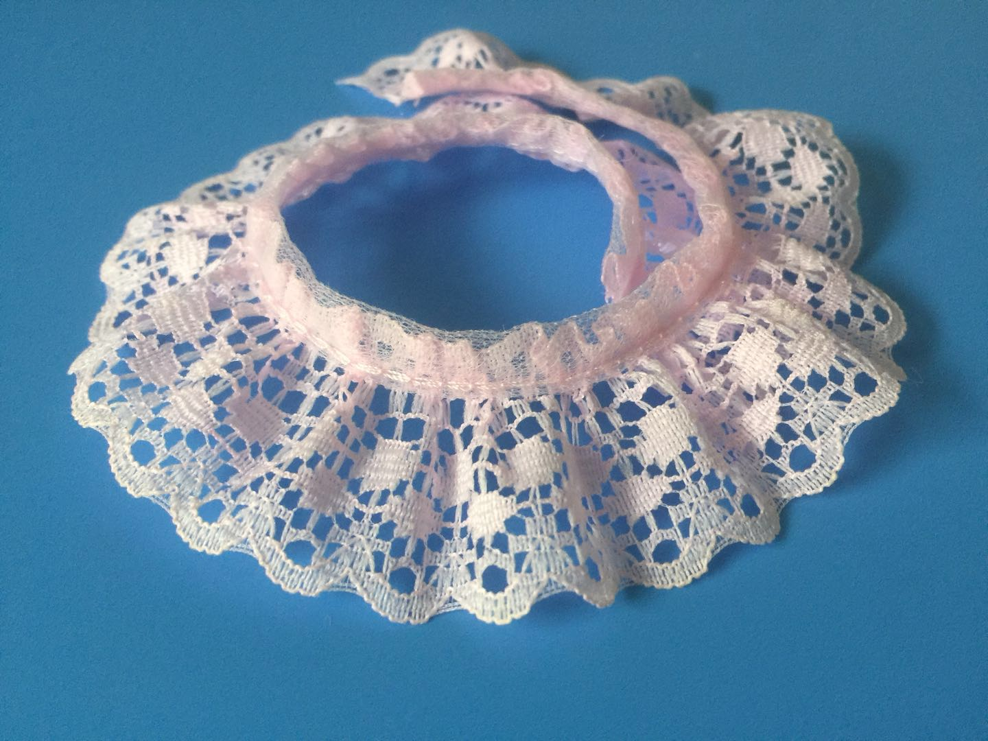 Ruffled Lace Trim/ Frilled Lace Trim for Garment and Decorations