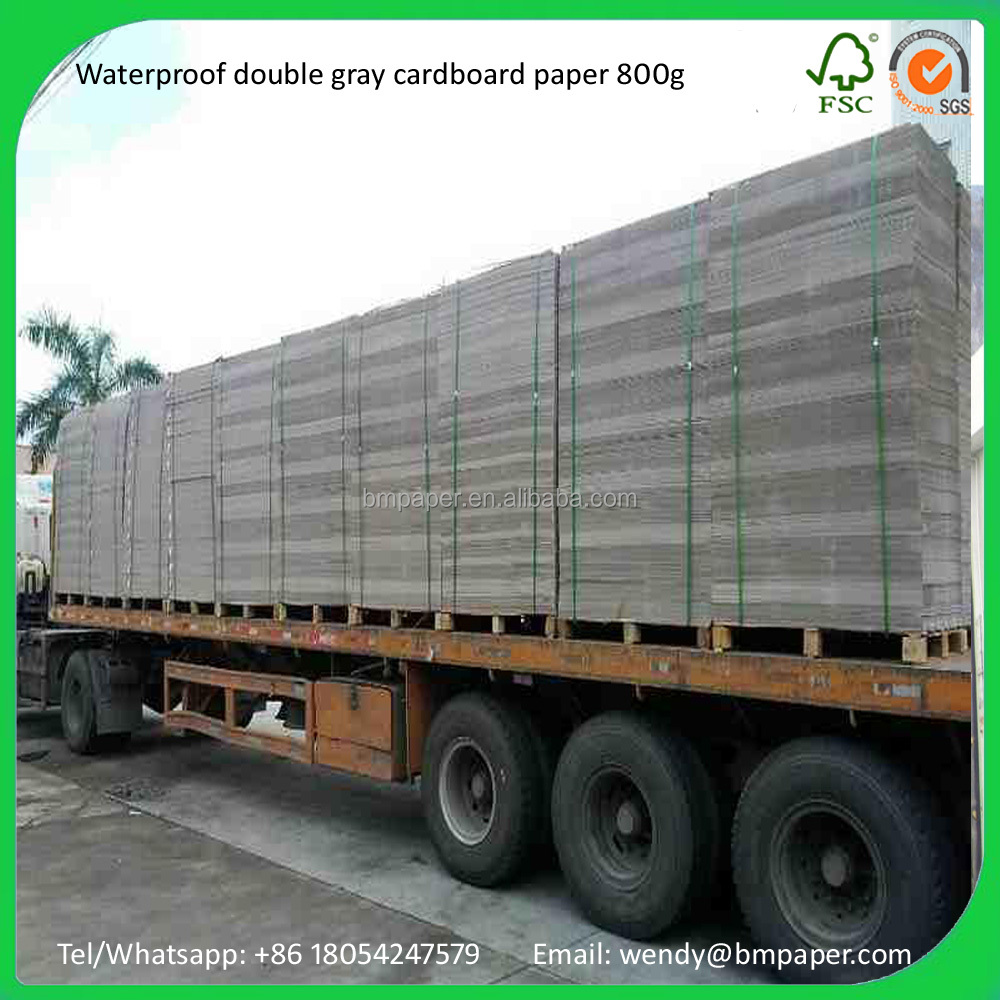 400/450/500/550g construction cardboard waterproof grey paper
