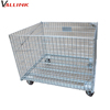 zinc plated wire mesh cage with non fumigation wooden pallet