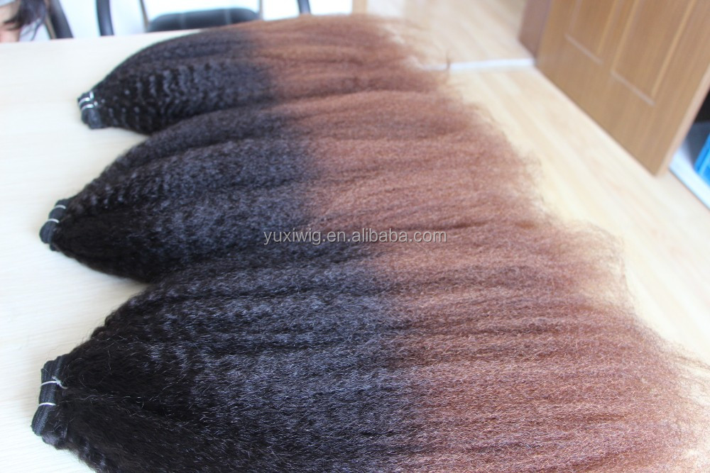 Ombre Brazilian kinky curly hair extension 100%human hair Two-Tone Color #1B#27