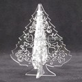 oem design clear small foldable acrylic artificial christmas tree , acrylic christmas baubles