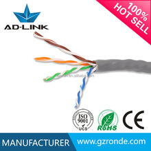 High Speed Unshielded Cat5e Internet Cable 24 AWG 4 pairs Solid wire China Factory Wholesale In Guangzhou