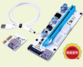 008S PCI-E Express 1x to 16x USB Riser adapter card 60cm USB 3.1 Extension Cable molex/6pin/Sata connector riser