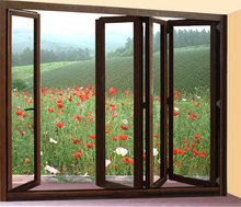 Australia standard folding patio windows hot sale aluminum bi fold window
