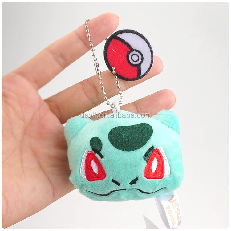 Factory new style cute 7cm Pokemon plush stuffed Eevee cheap custom keychains