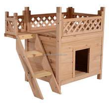 Hot sale customized large outdoor fence wooden dog kennel