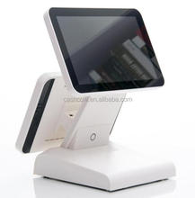 Popular fiscal payment system fanless pos cash register with card reader