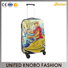 EVA fabric carry on luggage trolley soft case printing luggage