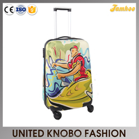 EVA fabric printing trolley soft case printing luggage
