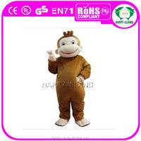 HI CE crazy funny monkey curious george mascot costume for adult