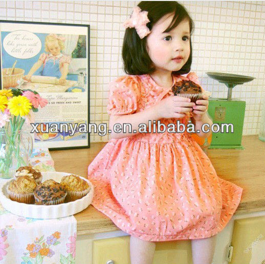 2015 New fashion dress flower girl dress and girl frock dress