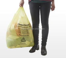 Printed wholesale charity donation plastic bag for packing clothes