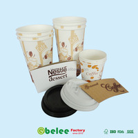 paper hot coffee cup with lid and sleeve