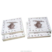 animal printed paper napkins with different images for sale