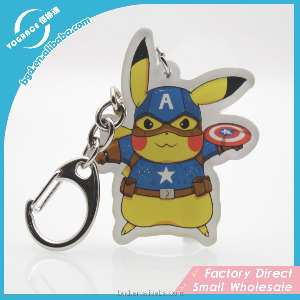 Fashion High Quality Plastic animal keyring Key Chain Parts
