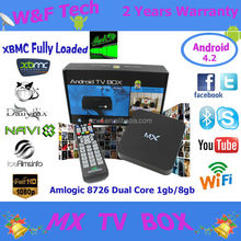Original 1gb and 8gb amlogic 8726 mx a9 quad core android 4.2 mx dual core android smart tv box