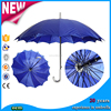 OEM Solid Color custom chinese Handl umbrella printing gift Double Layer big Straight umbrella