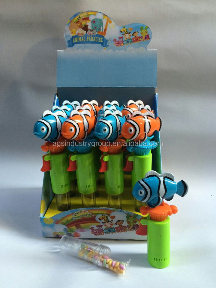 Promotional Candy Tube Frog Shape Candy Toy