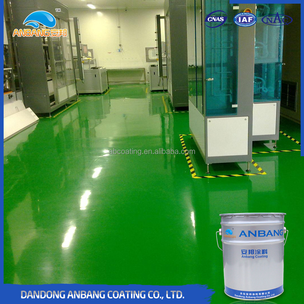 AB-DP-300M workshop high hardness chemical resistant antislip industrial epoxy floor coating