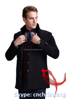 Selected wool pea coat