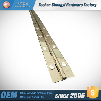 72 inch brass continuous piano hinges