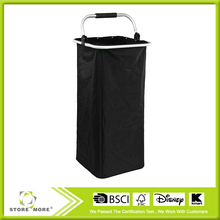 Collapsible Laundry Hamper - Black Foldable Clothes Basket with Handle