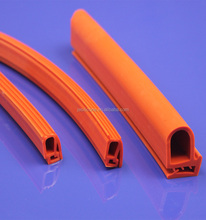 Silicone rubber seal strip for shower door window