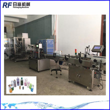 automatic cosmetic cream filling capping labeling machine line