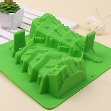 Santa Christmas Tree Gift Silicone Cake Decoration Baking Mould Children's Bakeware