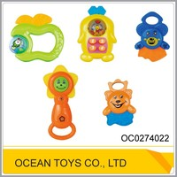 Educational baby teeth rattle toys baby plastic keys toy OC0274022