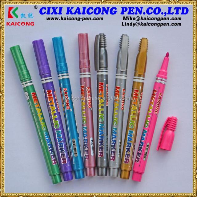 glitter marker permanent colorful signature metallic marker for