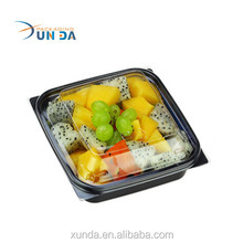 High quality customized plastic box for fruit & Salad F19 food grade