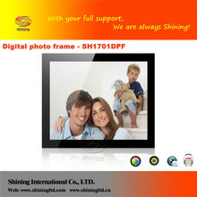 HD video display slim 17 inch multi functional digital photo frame with USB driver