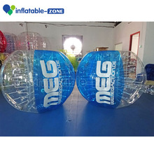 Free Logo printing on Human Sized Soccer Bubble Ball / Football Inflatable Body Zorb Ball/soccer bubble