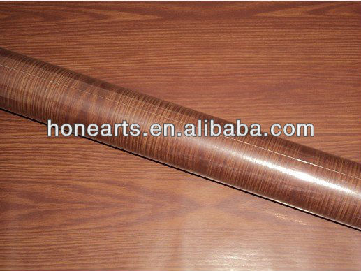 PVC wooden film /Wood color sticker for furniture