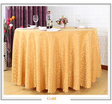 Luxury Gold 132 Inch Round Table Decorations Table Linen/ Table Cover