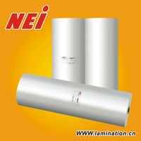 Soft touch uv resistant laminating film