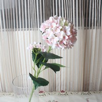 long stem 2 heads artificial hydrangea petals flower