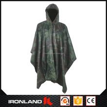 2017 fashionable wholesale cheap camouflage target rain poncho