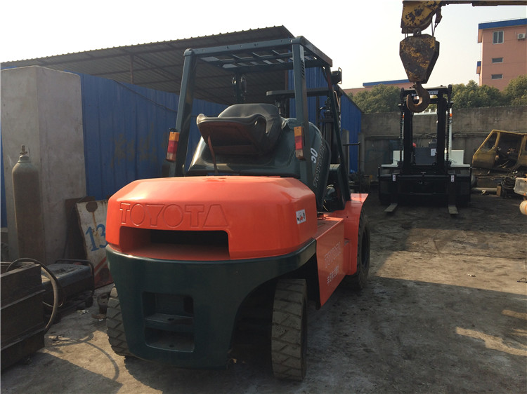 Used Toyota Forklift 7FD50, Cheap Price Toyota Used Forklift 5 Ton