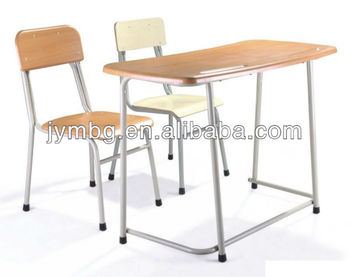 school furniture double hot School desk and chair in wood
