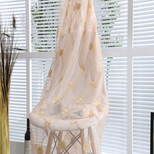 Good price hanging embroidered tulle window curtains for hall window curtain pattern