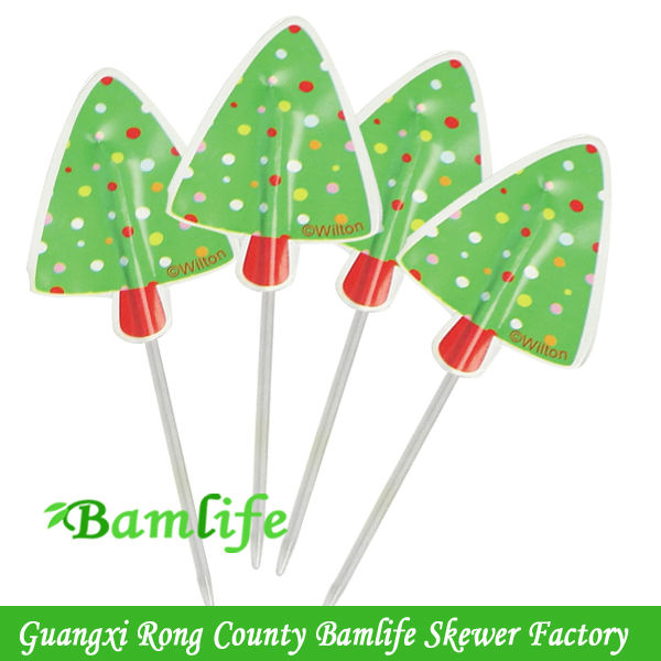 disposable party decoration plastic stick flag food picks