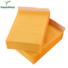 Wholesale poly self seal packing antistatic kraft bubble mailers envelope bag