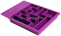 Tetrimino-shaped Tetris Sliding Blocks game pieces silicone rubber Ice Cube Tray,lego ice jelly chocolate mold mould