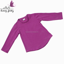 Wholesale Toddler Kids Baby Girls Top Clothes Long Sleeve Plain Brand Solider Colour T-Shirt