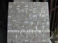 Natural china rfreshwater pearl oyster rivershell mosaic wall tile on mesh with gap