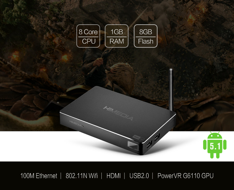 2017 Rockchip Rk3368 H.264 H.265 4K Uhd Kodi 15.2 Media Player External Antenna 1080P Full Hd Smart Android 5.1 Ott Tv Box