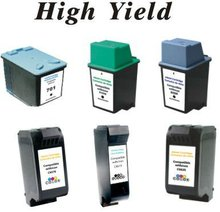 Compatible Cartridges for HP ink jet Printers- High Yield & Excellent Quality