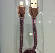 Factory Wholesale led light nylon braided usb charger data cable for Iphone